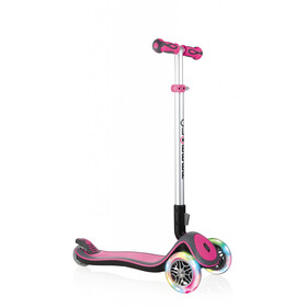 Globber Elite Deluxe Scooter with battery-free LED wheels Kids, pink